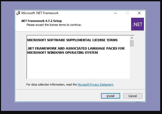 Menginstall NET Framework